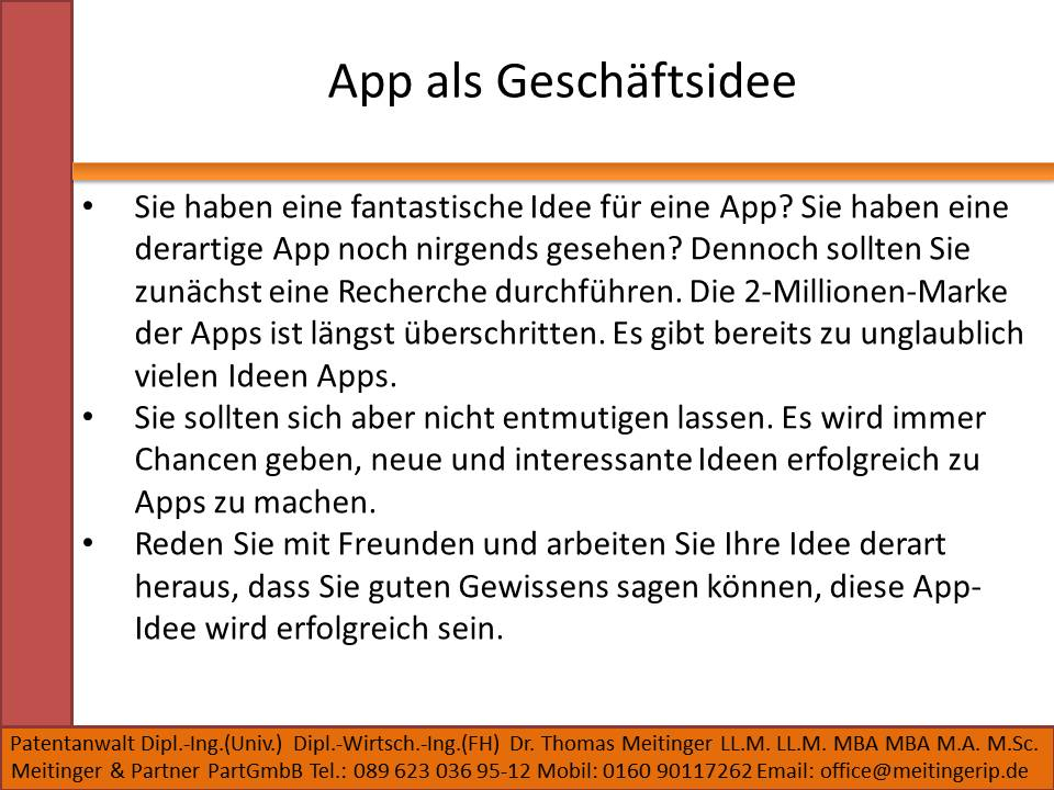 App als Geschäftsidee