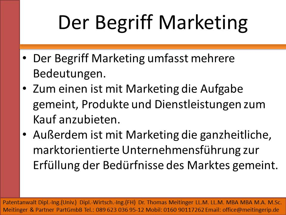 Der Begriff Marketing