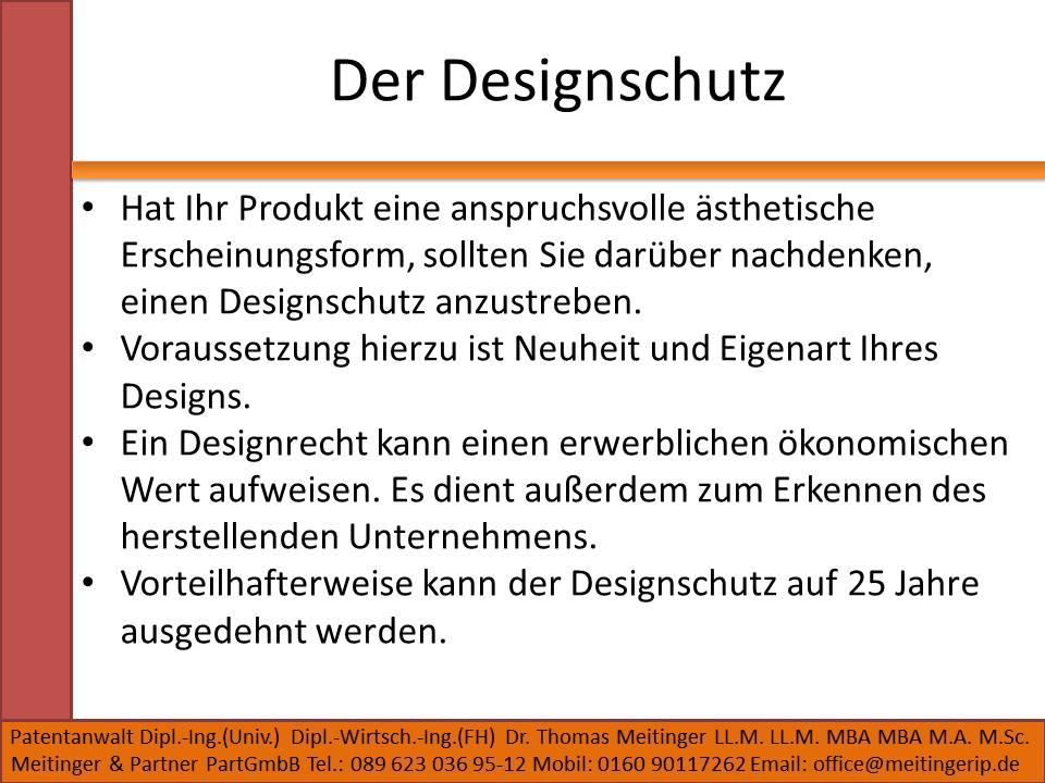 Der Designschutz