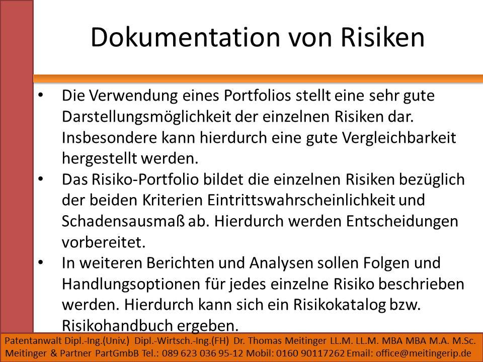 Dokumentation von Risiken