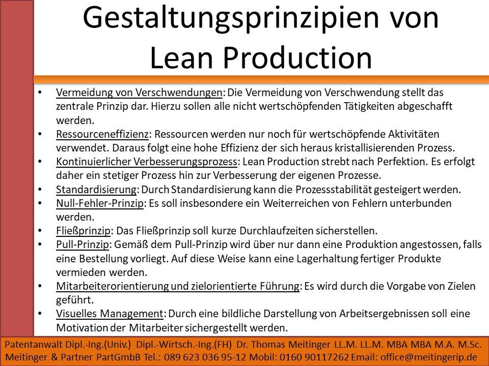 Gestaltungsprinzipien von Lean Production