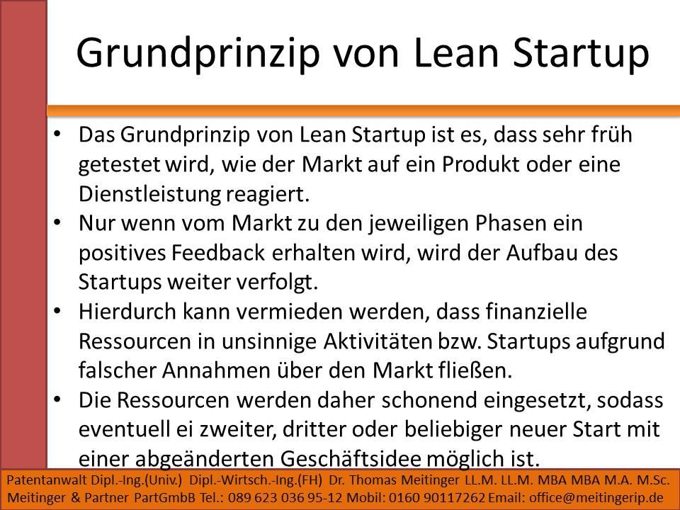 Grundprinzip von Lean Startup