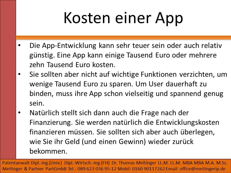 Kosten einer App