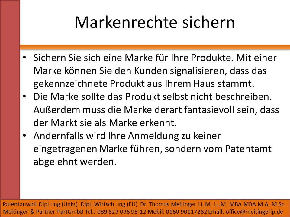 Markenrechte sichern