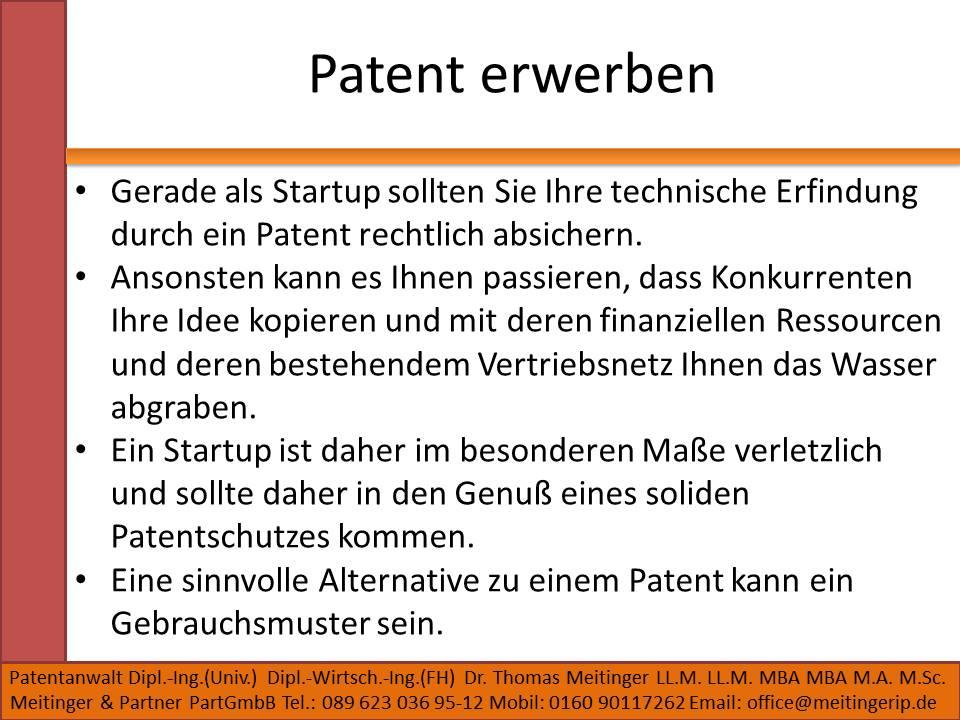 Patent erwerben