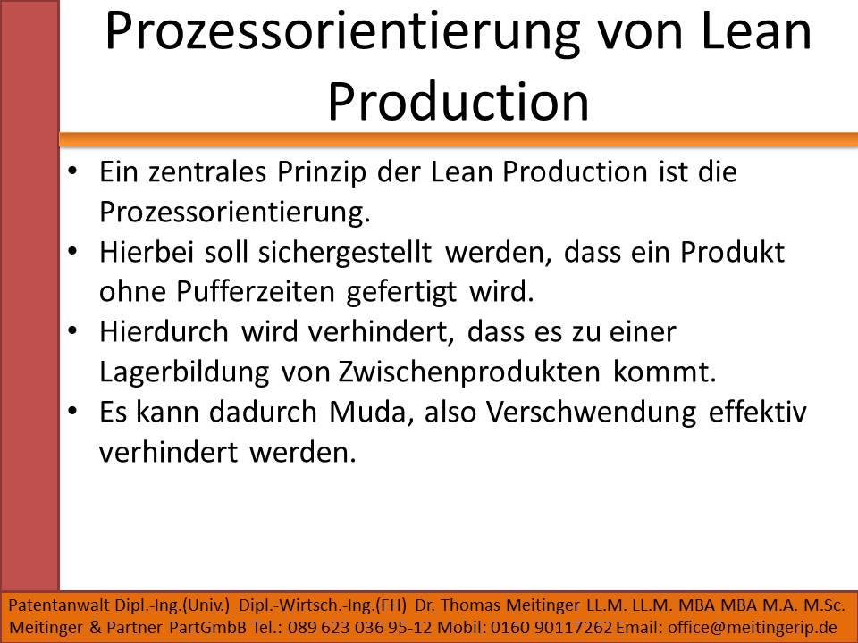 Prozessorientierung von Lean Production