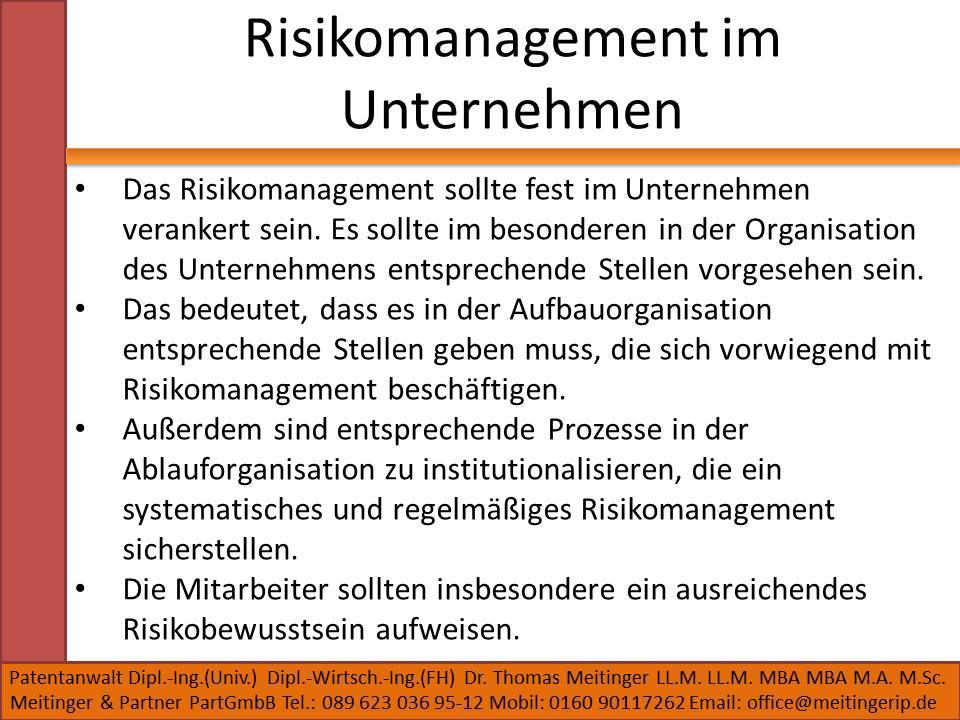 Risikomanagement im Unternehmen