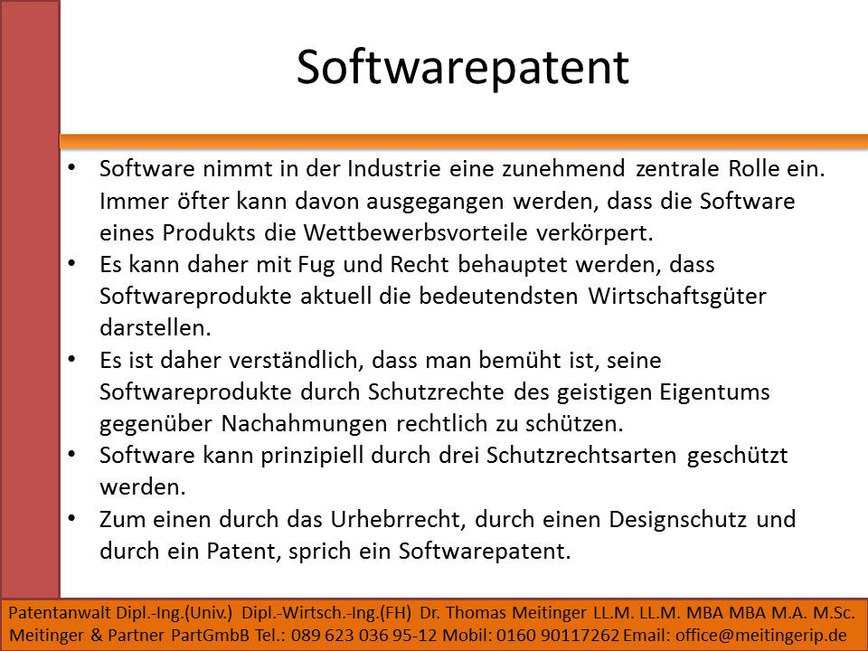 Softwarepatent