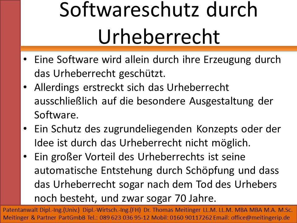 Softwareschutz durch Urheberrecht