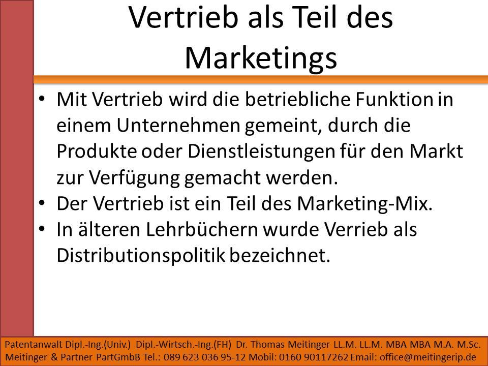 Vertrieb als Teil des Marketings