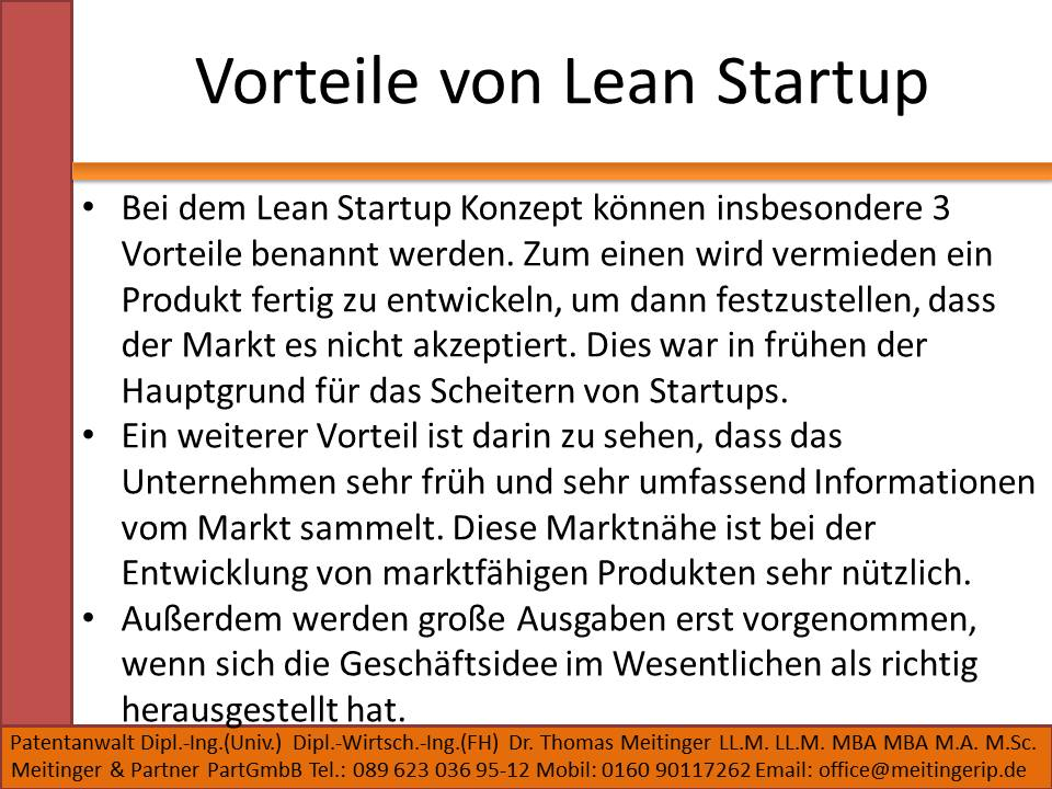 Vorteile von Lean Startup