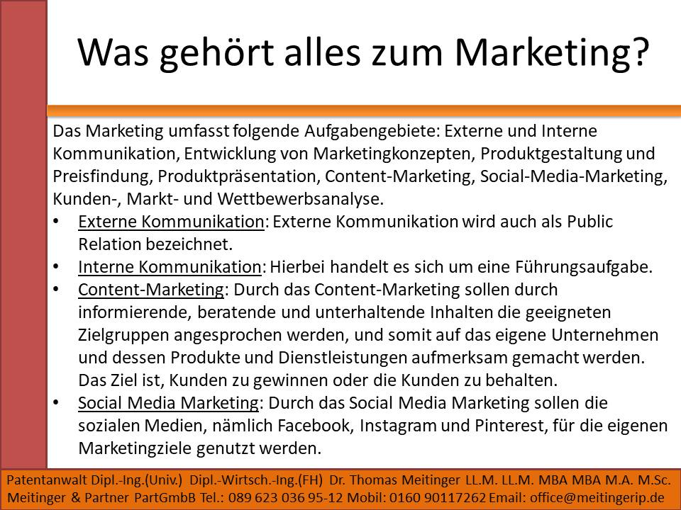 Was gehört alles zum Marketing