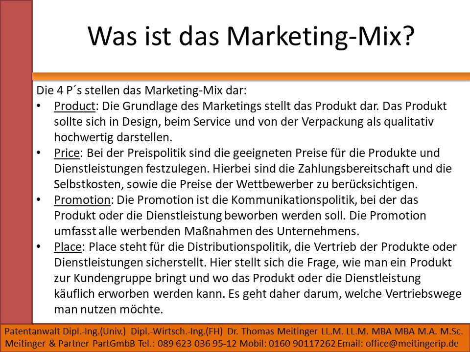 Was ist das Marketing-Mix