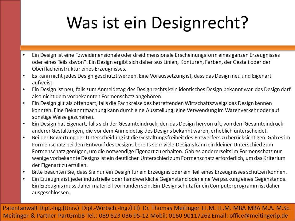 Was ist ein Designrecht