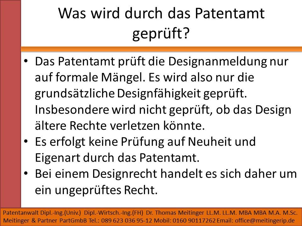 Was wird durch das Patentamt geprüft