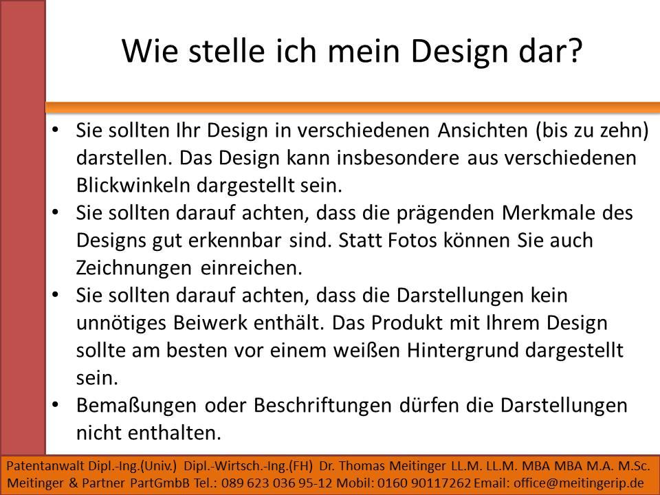 Wie stelle ich mein Design dar