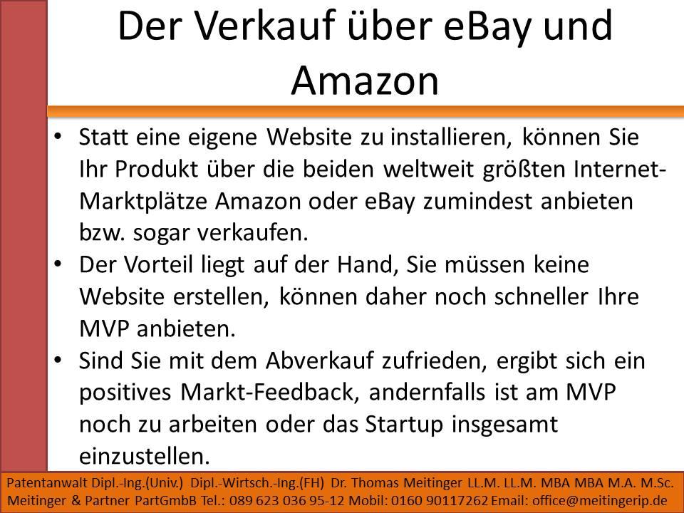 Der Verkauf über eBay und Amazon