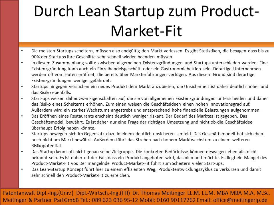 Durch Lean Startup zum Product-Market-Fit
