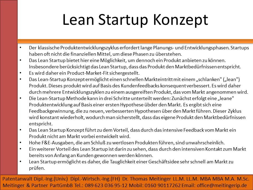 Lean Startup Konzept