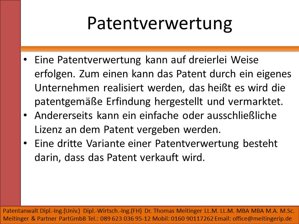 Patentverwertung