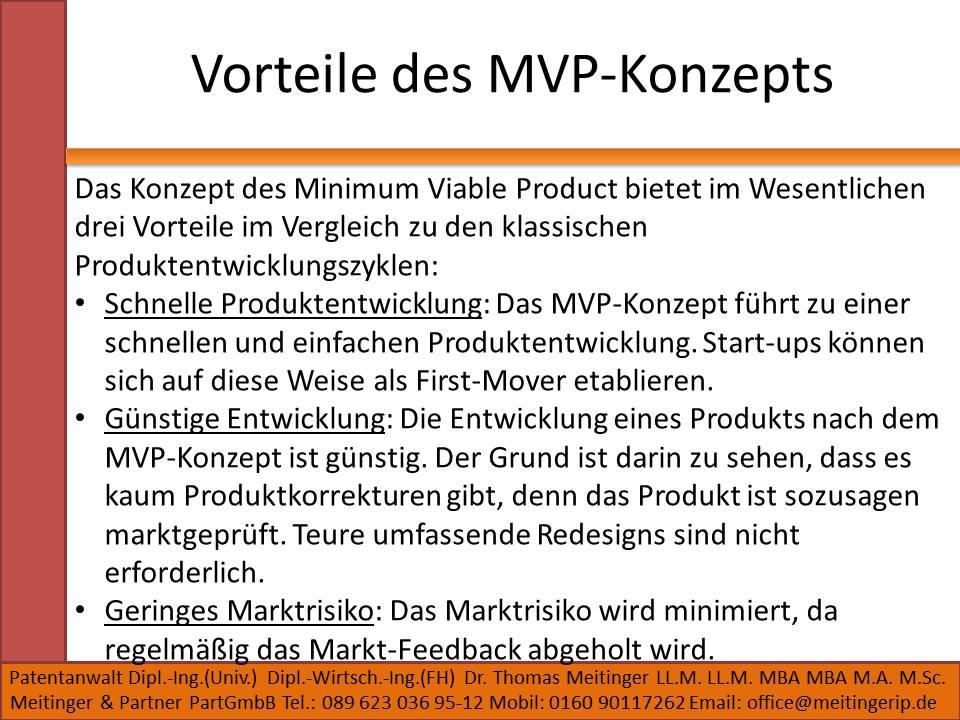 Vorteile des MVP-Konzepts
